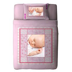 Pinky Bebek Fotoğraf Baskılı Nevresim Takımı