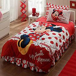 Taç Disney Minnie Mouse Tek Kişilik Uyku Seti