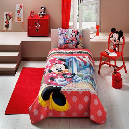 Taç Disney Minnie Tea Time Tek Kişilik Yatak Örtüsü