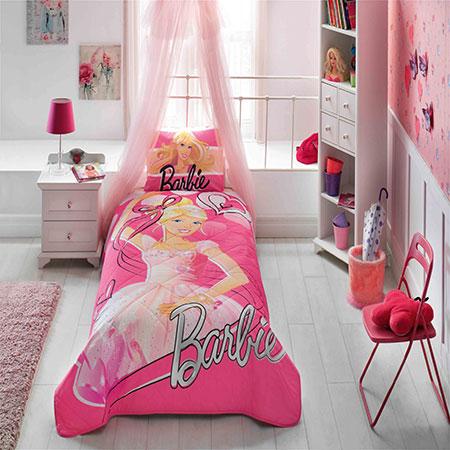 Taç Barbie Ballerina Yatak Örtüsü