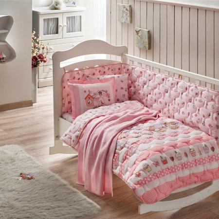 Taç Bebek Ranforce Battaniyeli Sweet Bird Uyku Seti