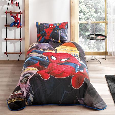Taç Spiderman Tek Kişilik Yatak Örtüsü