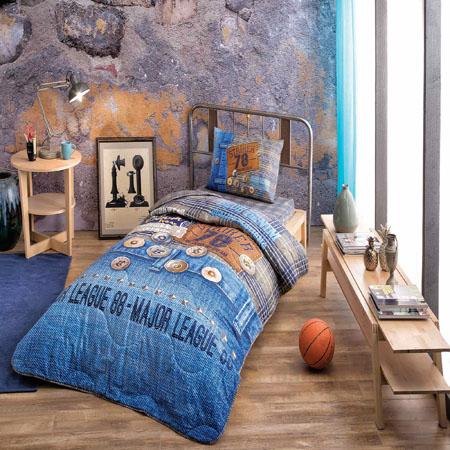 Taç Jeans Yastık Örtü Seti