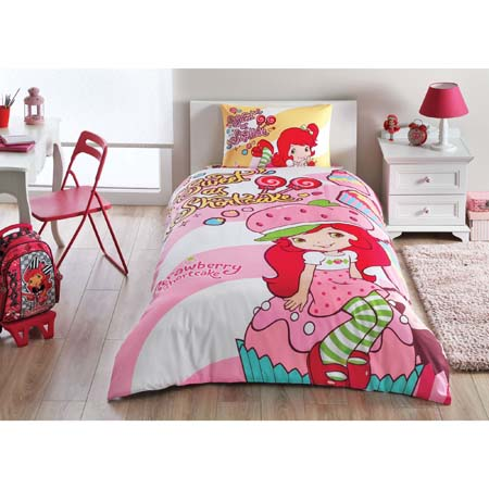 Taç Strawberry Shortcake Cute Nevresim Takımı