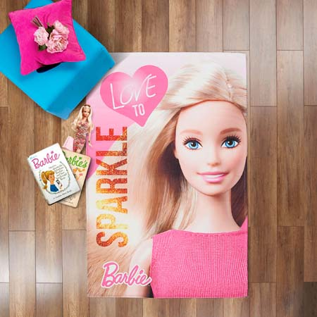 Lisanslı Barbie Sparkle Halı