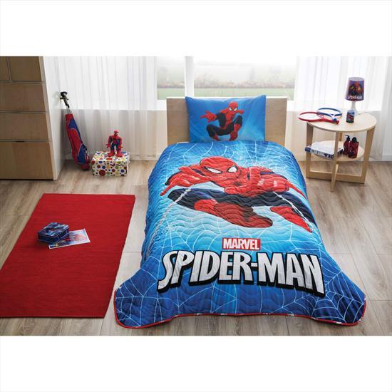Spiderman Skyscaper Yatak Örtüsü
