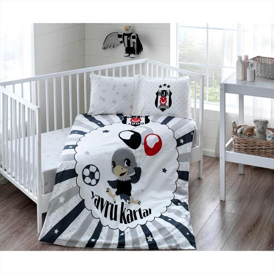 Taç Beşiktaş Ballon Baby Bebek Nevresim Takımı