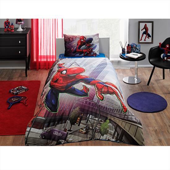Taç Spiderman Action Tek Kişilik Nevresim Takımı