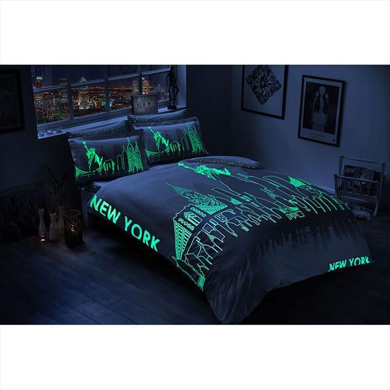 Taç Glow Saten New York Nevresim Takımı