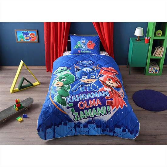 Picture of Taç Taç Pj Masks Yorgan Seti