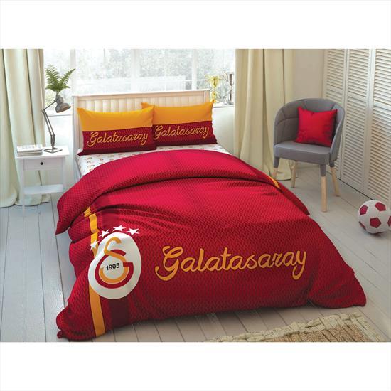 Taç Galatasaray Striped Çift Kişilik Nevresim takımı