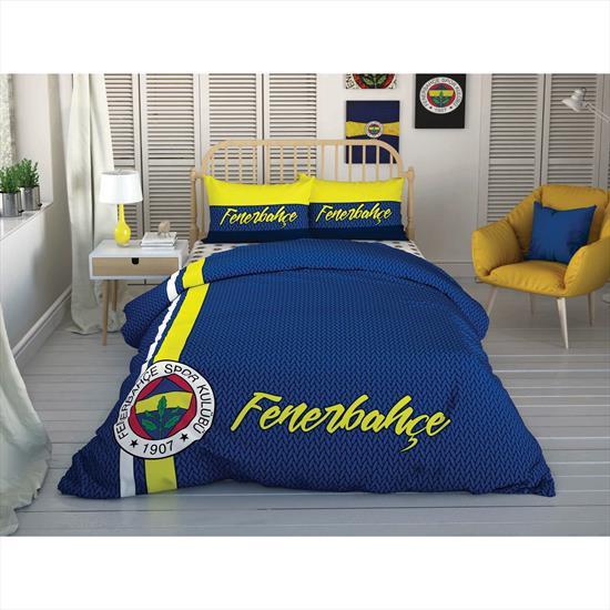 Taç Fenerbahçe Striped Çift Kişilik Nevresim takımı