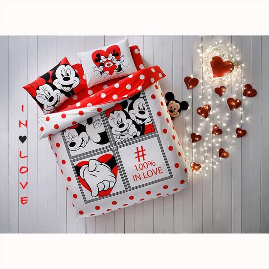 Taç Disney Minnie&Mickey Dotty Çift Kişilik Nevresim Takımı