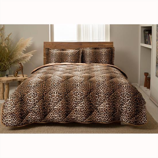 Taç Leopard Tek Kişilik Yorgan Seti