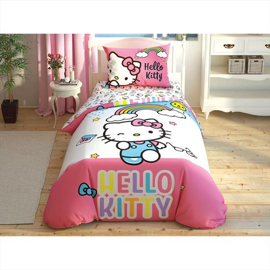 Taç Hello Kitty Rainbow Nevresim Takımı