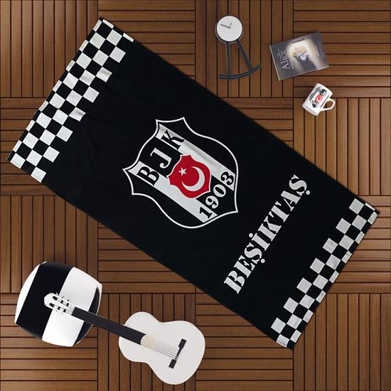 NoName Beşiktaş Klasik Damgalı Plaj Havlusu