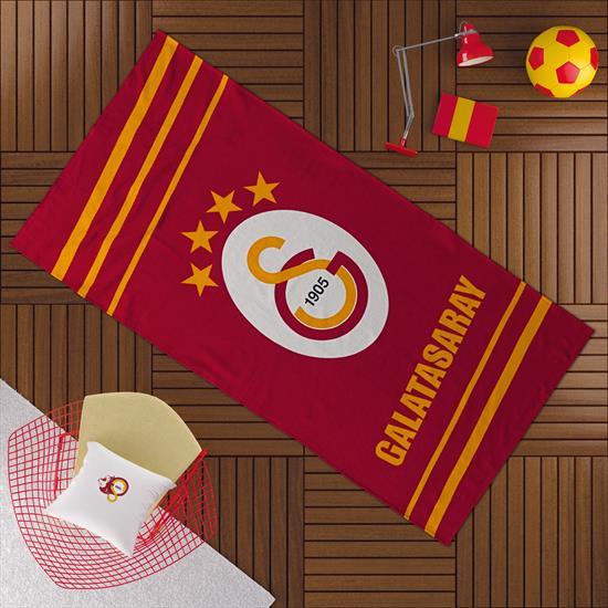 Galatasaray Sarı Kırmızı Plaj Havlusu