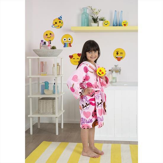 Taç Emoji Çocuk Bornoz 4-6 Yaş