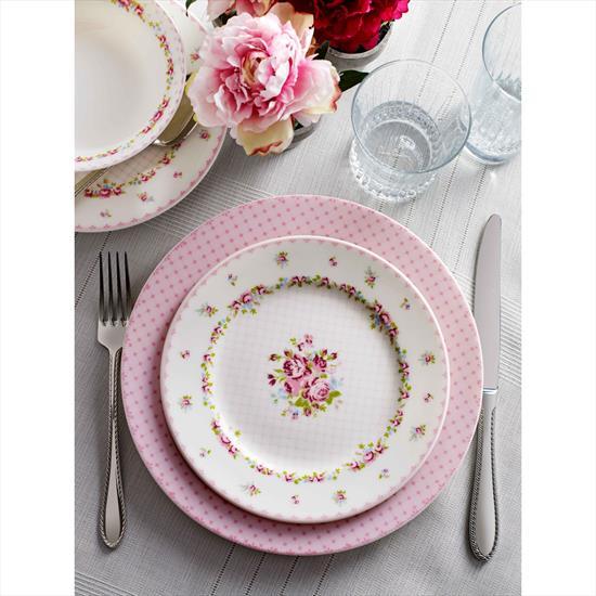 Pierre Cardin Dora Pink 24 Parça Yemek Takımı