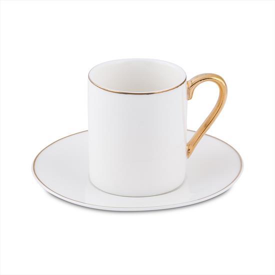 Bianca Luna Sweet Gold 6'lı Kahve Fincan Seti