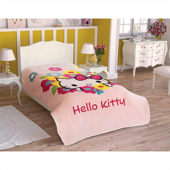 Taç Hello Kitty Flowers Battaniye
