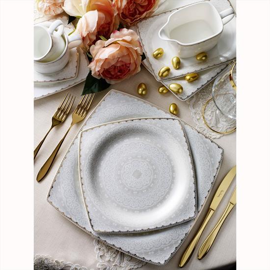 Pierre Cardin Carolina 12 Kişilik 60 Parça Bone China Yemek Takımı